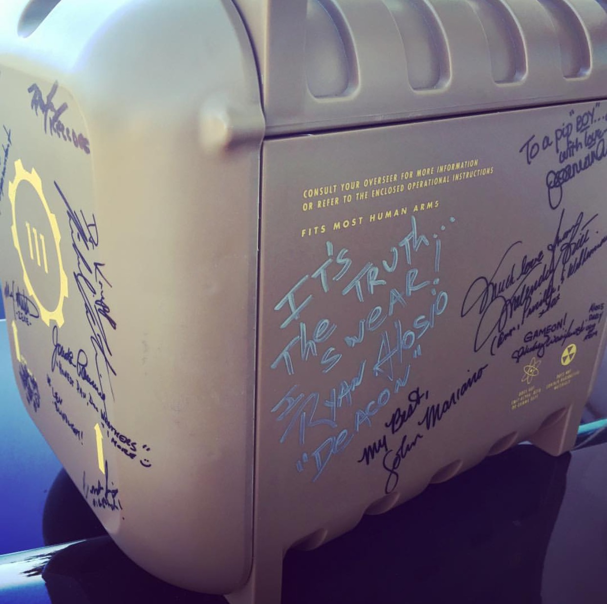 Signed Fallout 4 Pip-Boy - A Cause for Entertainment