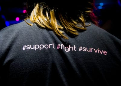 A Cause for Entertainment 2017 Benefit for Breast Cancer - The Back of Our Volunteer Shirts #support #fight #survive